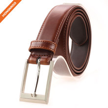 New Product Custom Brown Soft Men Dress Real Luxury Genuine Leather Belt