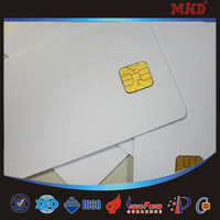 MDC60 Hot Sell blank contact rewritable plastic smart card with SLE4442 chip
