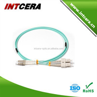 LC/PC-SC/PC Duplex OM3 OM4 2.0 &3.0mm fiber optic patch cord from China