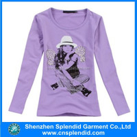 2014 latest fashion designs longsleeves t shirt for women