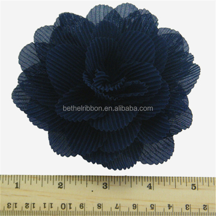 Top quality hot sale fabric flower for shoe hat wholesale