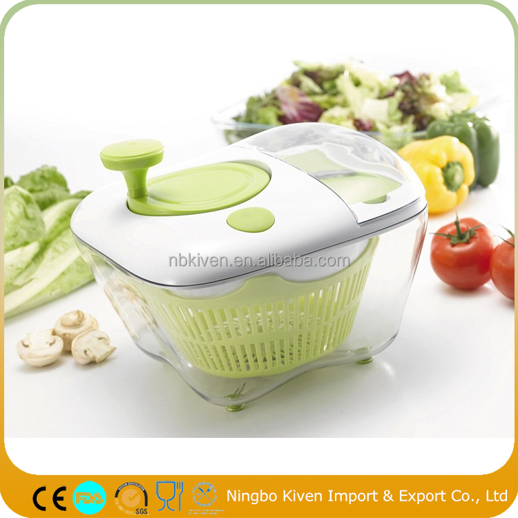 All In One Salad Spinner With Grater Bowl