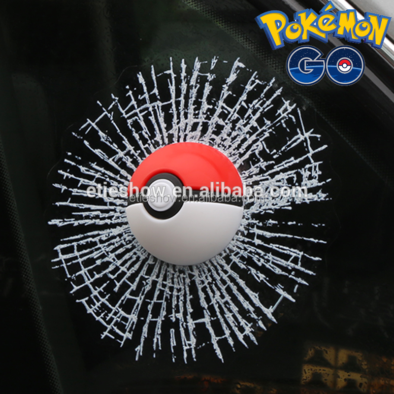 ETIE Funny 3d car emblem and Decals 3D Pokeball Sticker