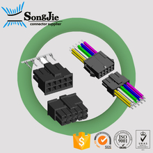 double rows atx/molex/jst male housing 3mm power connector 2 4 6 8 10 12 14 16 18 20 22 24 pin/circuit, with flat ribbon cable