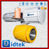Didtek Flange Type Pneumatic Operated Stainless