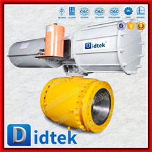 Didtek Flange Type Pneumatic Operated Stainless Steel Ball Valve