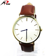 Men fashion custom logo watches ,watch genuine leather,watch men leather 2016