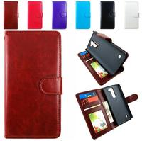 Hot selling card slot leather cover for LG K7/K10 back cover PU leather case