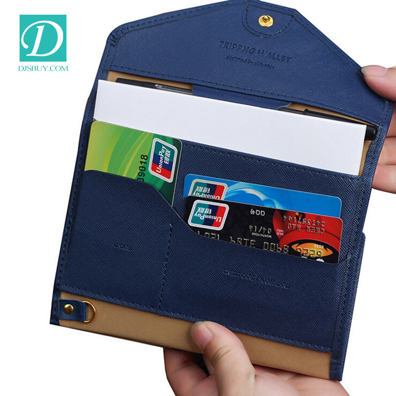 Fashion Travel Portable Multifunctional Ticket Passport Bags Passport Holder Card Case
