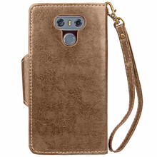 Oil surface wearproof quality business wallet style leather phone cover for LG G6 case with card solt