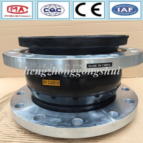 large size double head stainless steel flanged rubber expansion joints concrete