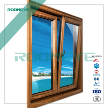 ROOMEYE latest design grill design wood window with 50 years warranty