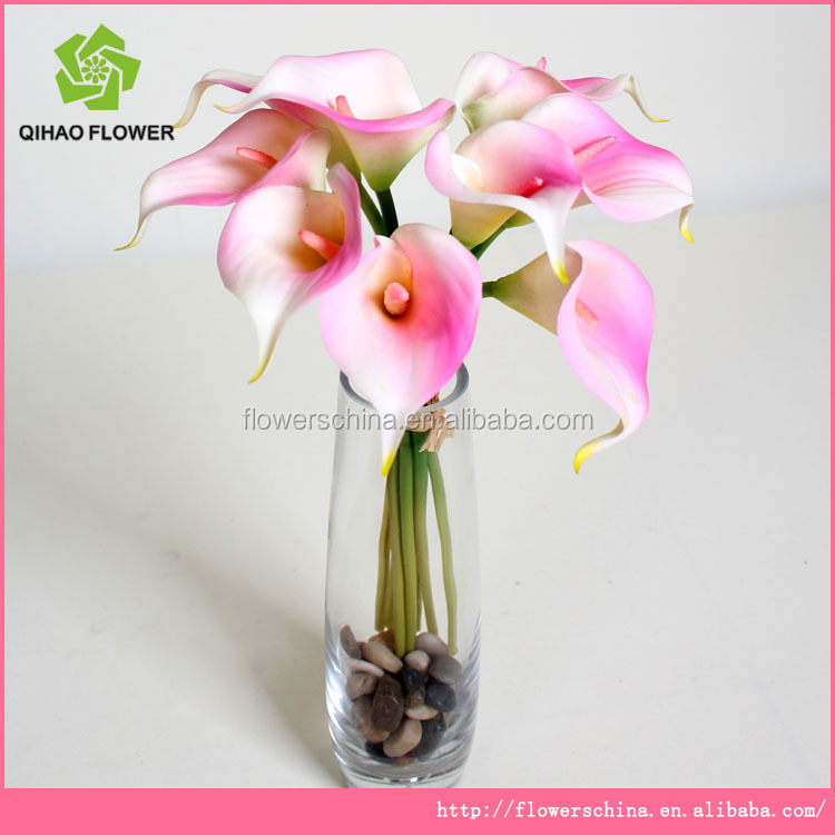 Super lifelike decorative flowers real touch artificial flower calla lily