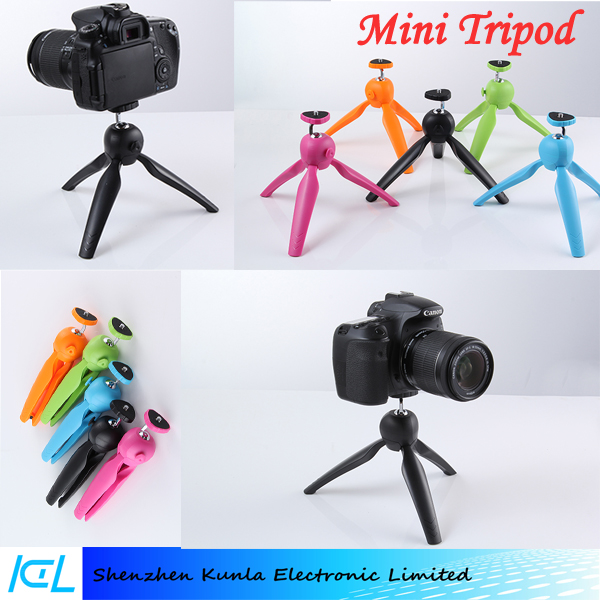 2015 Wholesale Flexible Mini Tripod Durable Tripod Portable Mini Table Tripod for Digital Camera and selfie kit