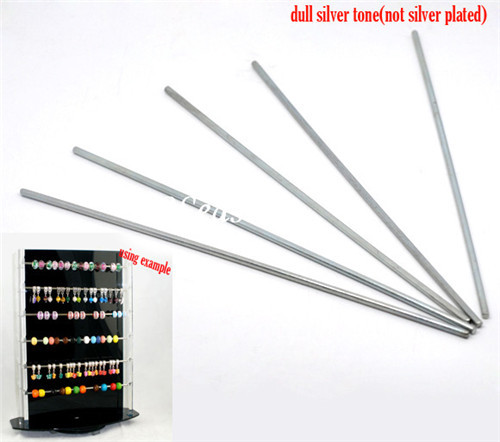 Jewelry Tools Silver Tone Metal Bars European Charm Beads Display Holder