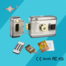 Stainless steel security door lock with ID card