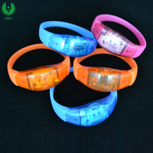 Music/Sound/Motion Activated Bracelet,Flashing Silicone Led Wristband