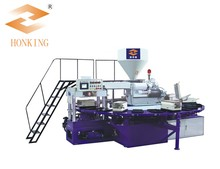 Automatic rotary type air blowing injection moulding machine for PVC shoe