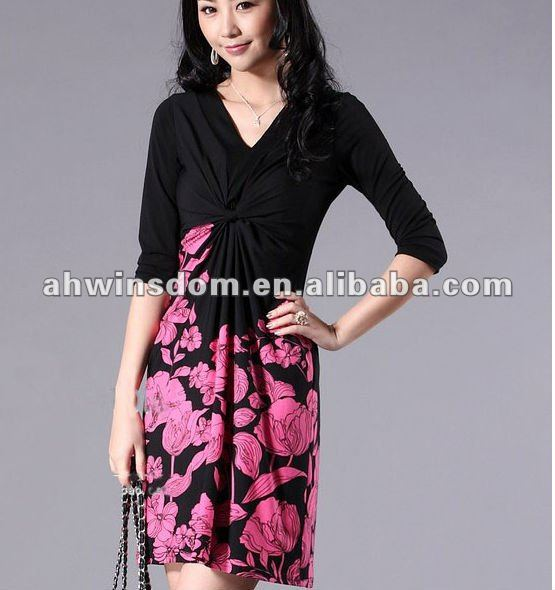 New suihua flower dress for ladies