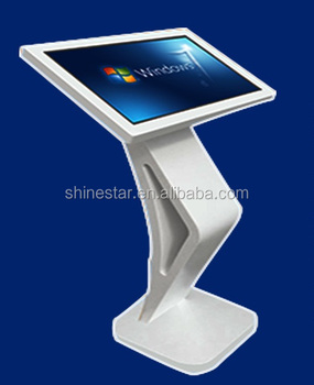 "Alone stand self-service terminal touch kiosk 19"" inch TFT LED interactive signage PC"