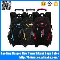 Hot selling fashion rolling backpack unisex wheeled trolley school bag alibaba China