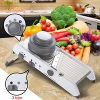 New Multifunctional Adjustable Mandoline Slicer, Manual Vegetable Fruit Cutter, Potato Carrot Grater