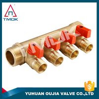 brass port plumbing manifold importer in China and thread material Hpb57-3 for gas and water in OUJIA VALVE FACTORY