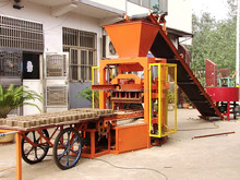 Semi Automatic QTJ4-30 cement/concrete brick block making machine price in nigeria