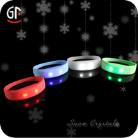 New Products 2015 Colorful Cheap Custom Silicone Rubber Led Band/Bracelets