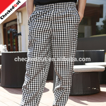 Hot sale fashion chef trousers kitchen durable cotton printed chef pants