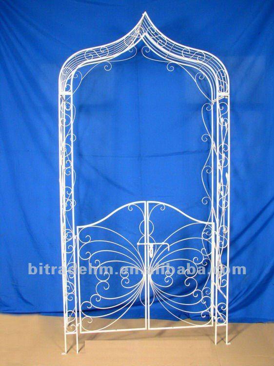 Metal decorativo jard n con arco puerta arcos emparrados for Arco decorativo jardin