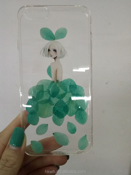 wholesale Dry pressed flower mobile cases cover custom promotion gift for iphone