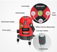 High quality, hot sell red color laser level