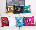 2016 hot sale mermaid sequin pillows 18 inches reversible Wholesale mermaid sequin pillow Sequin Throw Pillow Mermaid Sparkle