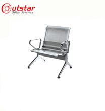 Wholesale grey color 1-seat steel airport waiting area chair