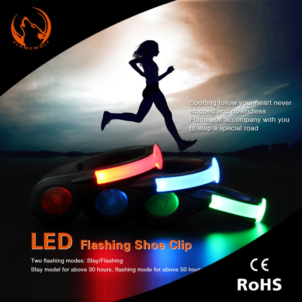 rechargeable battery operated led flash light for shoe. Black Bedroom Furniture Sets. Home Design Ideas