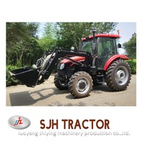 4wd farming tractor with front end loader SJH704