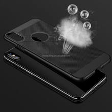 Ultra Thin Armor Case Heat Resistant Breathable Phone Bag Cases For iPhone X Cover