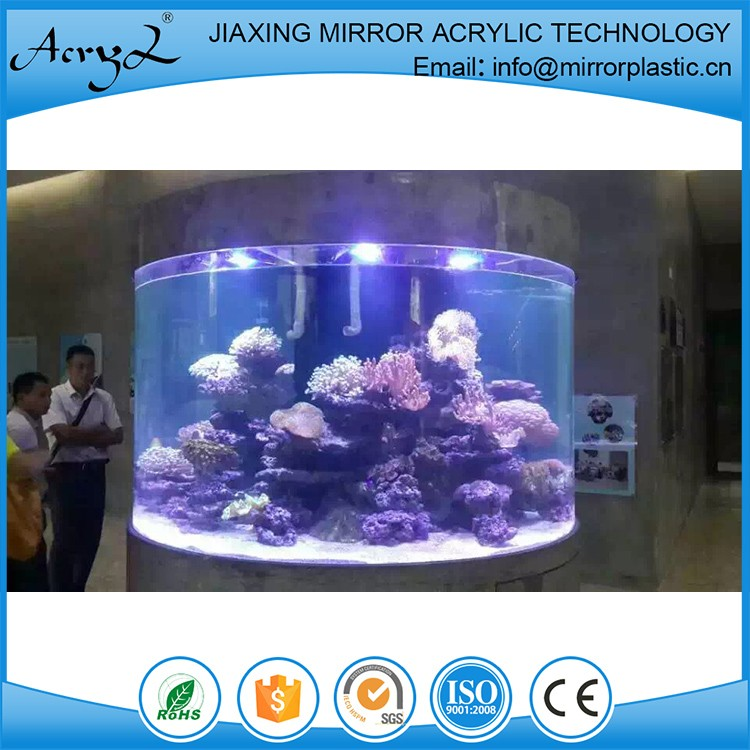 High Quality Cheap Custom Large Cylinder Aquarium Indoor/Outdoor