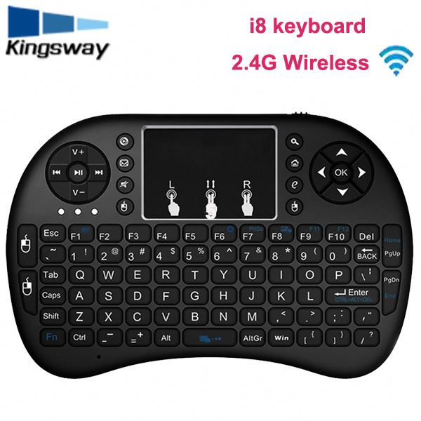 i8 mini white wireless keyboard 2.4G with Touchpad for PC android TV