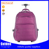 Small size nylon laptop trolley bag with wheels
