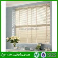 PVC venetian style blackout 2 inch faux wood window blinds waterproof home decor roman window blinds