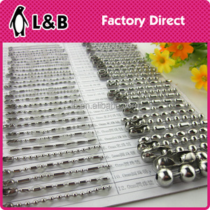 wholesale 1.2mm - 10mm NO magnet stainless steel ball chain