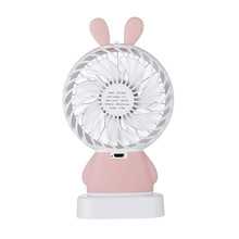 New Mini Portable 5V USB Rechargeable Fan With Colorful Light