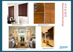 Basswood venetian blind with 25mm 35mm 50mm width blade
