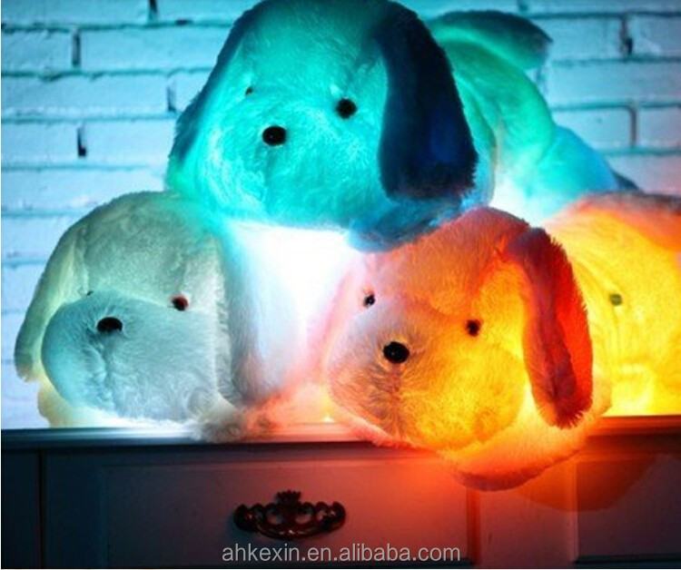 Funny Electronic LED Light cheap plush toys for kids