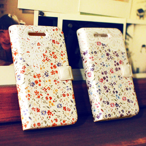 Blossom_Happymori Design Flip Phone Cover Case for Apple iPhone 6 (Made in Korea)