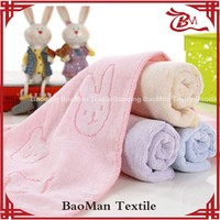 China manufacturer super soft 100 pure cotton towel light color dyed rabbit cloth for children women close skin