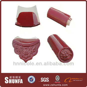 red color 180*160mm chinese traditional tyle kiosk roofing tile