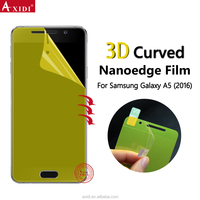 Amazon Top Sell Full Screen Cover 3D Curved Mobile Phone Lcd Touch Screen Protector Film For Samsung A5 2016